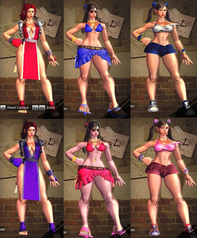 ChunLI hot Girl 3 costumes by aaniishh12