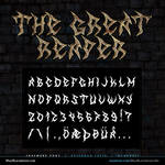 MB The Great Reaper | Death Metal Font