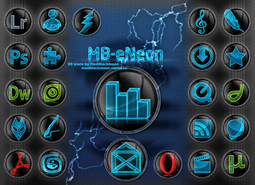 MB-eNeon-Icons by modblackmoon