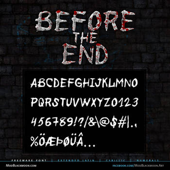 MB Before the End | Scratched Font