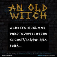 MB An Old Witch   Scratched Font by modblackmoon