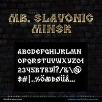 MB Slavonic Minsk   Pagan Font by modblackmoon