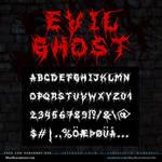 MB-EvilGhost Brutal Death Metal Font