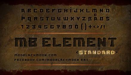 MB Element Standard | Grunge Font