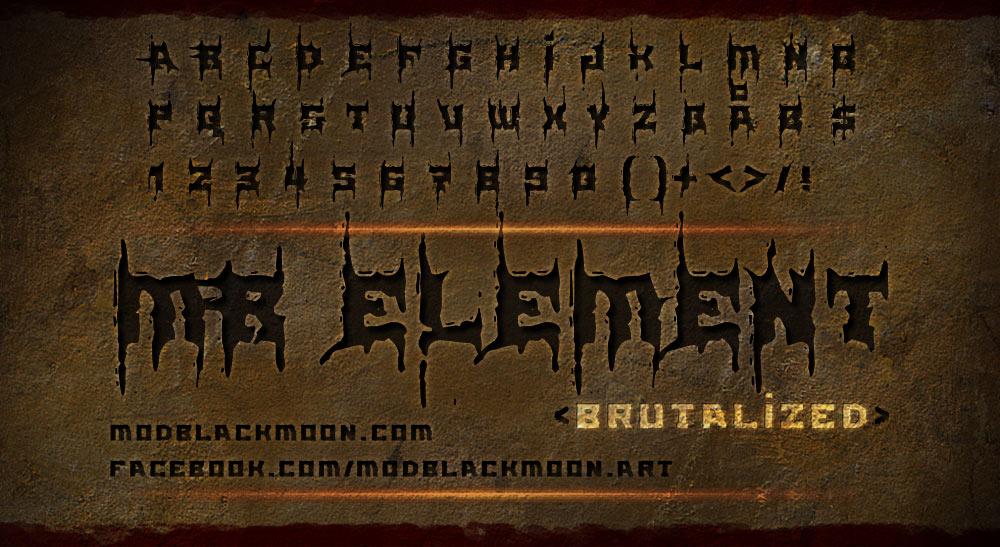 MB Element Brutalized | Death Metal Font