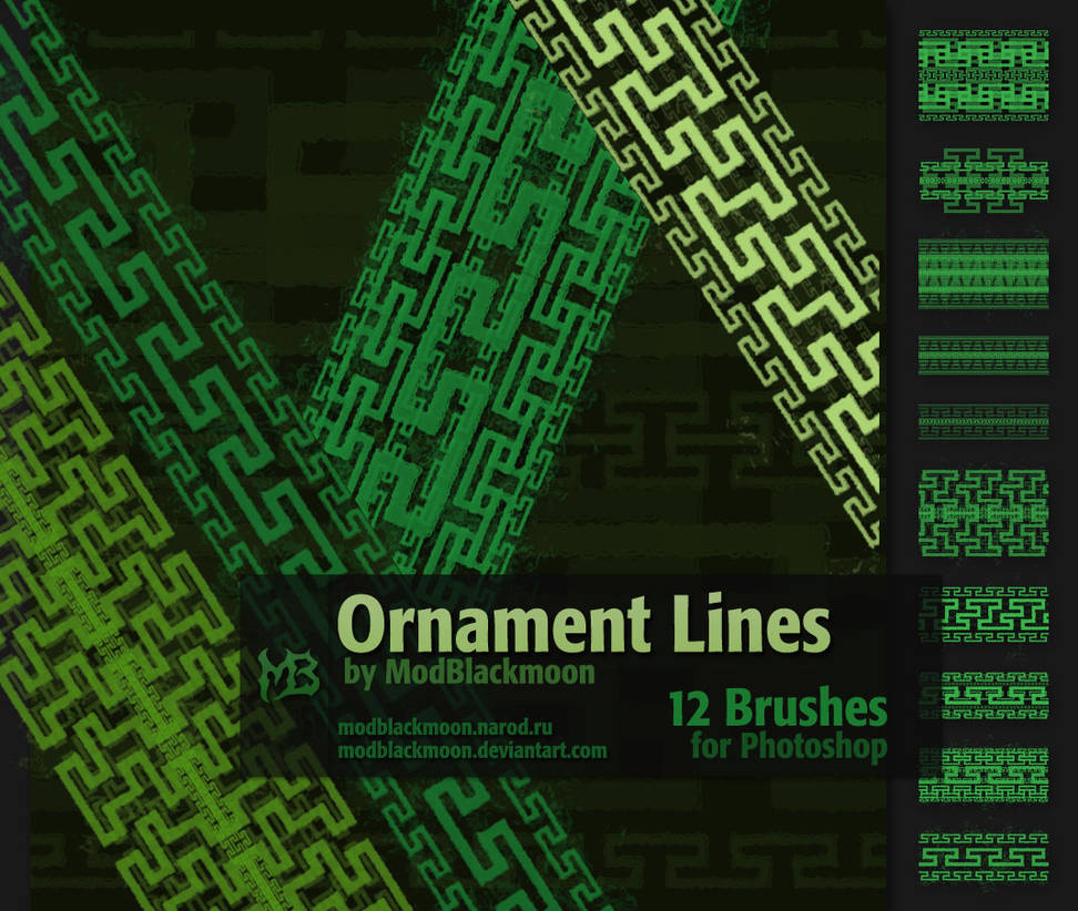 MB Ornament Lines by modblackmoon