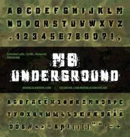 MB Underground   Grunge Font by modblackmoon