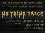 MB Think Twice   Grunge Font