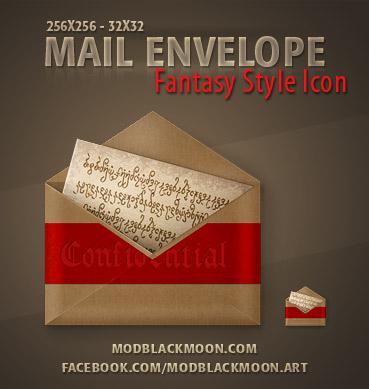 MB Mail Envelope Fantasy by modblackmoon