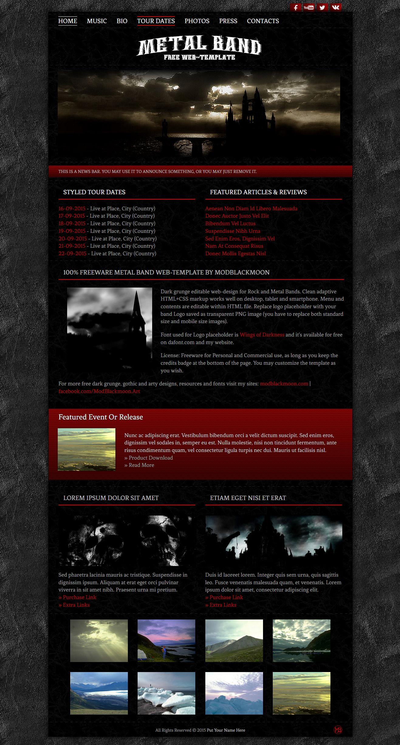 Metal Band Web-Template 026