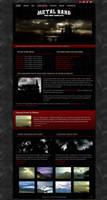 Metal Band Web-Template 026 by modblackmoon
