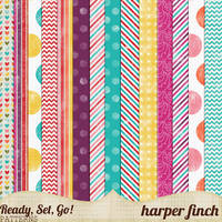 Ready, Set, Go! Series, Patterned Papers by harperfinch