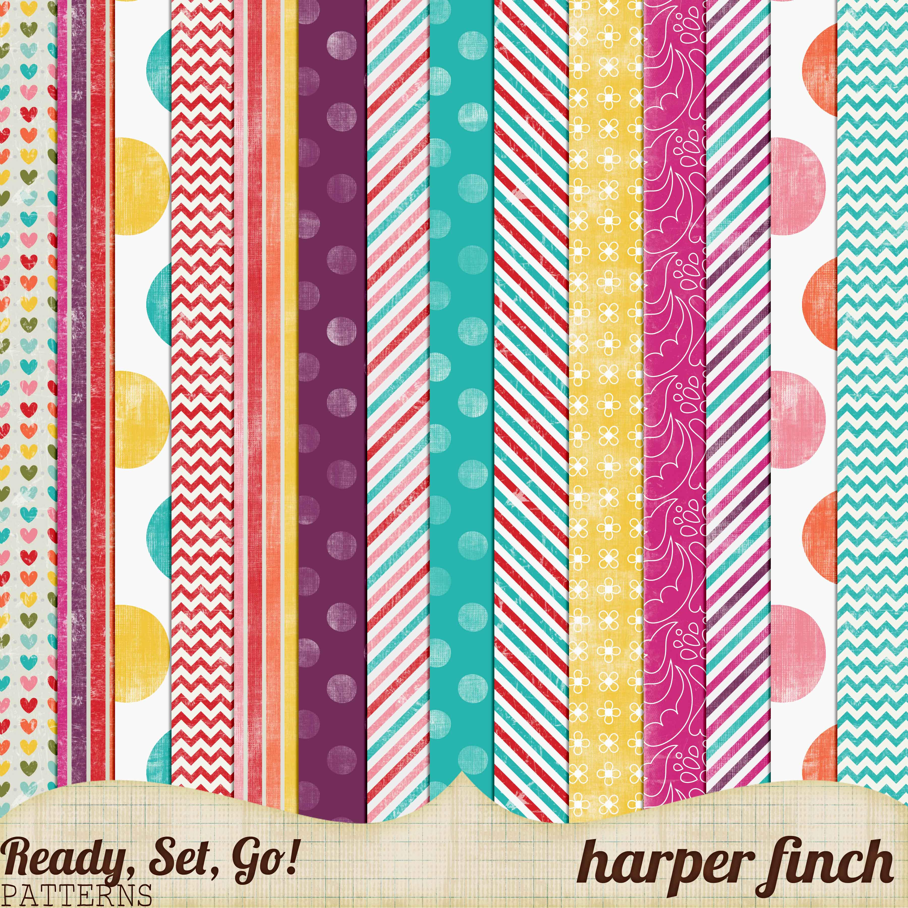 ready set go series patterned papers by harperfinch on deviantart