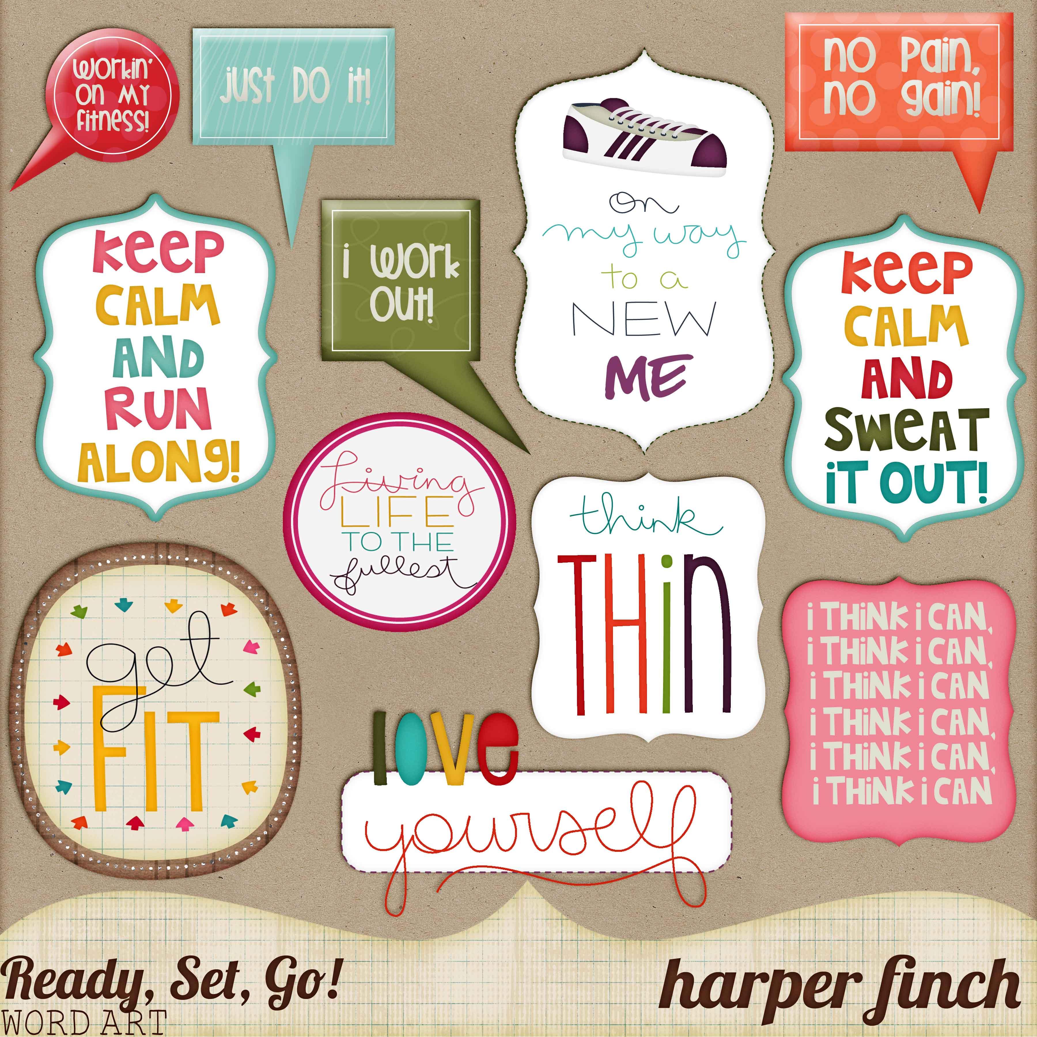 Ready, Set, Go! Series, Word Art by harperfinch