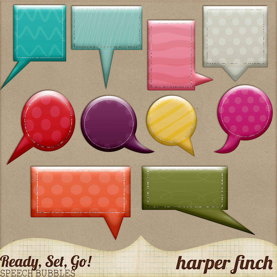 Ready, Set, Go! Series, Speech Bubbles by harperfinch