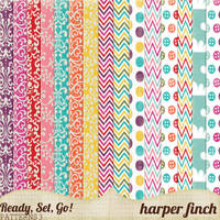 Ready, Set, Go! Series, Patterned Papers 3 by harperfinch