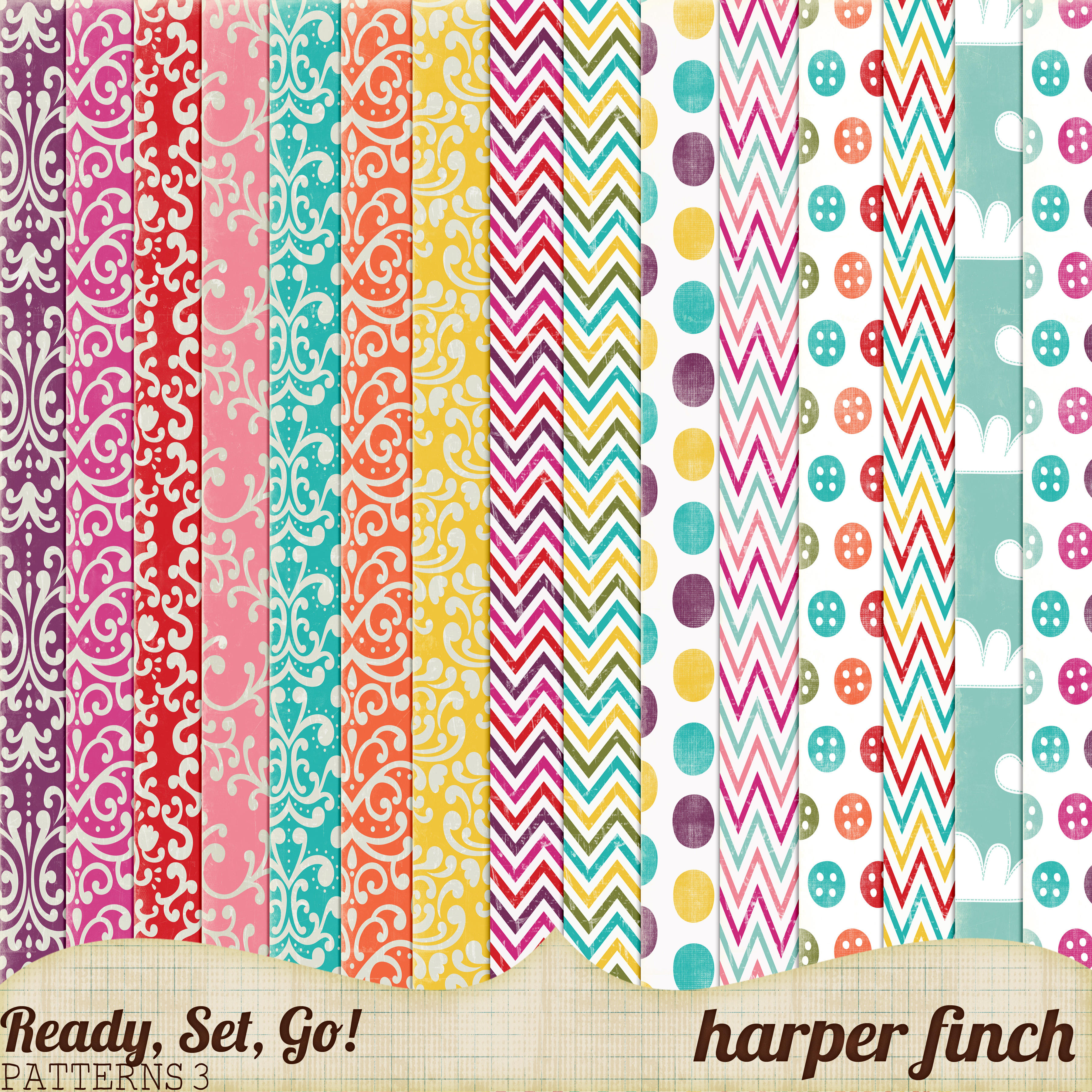 ready set go series patterned papers 3 by harperfinch on deviantart