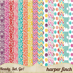 Ready, Set, Go! Series, Patterned Papers 3