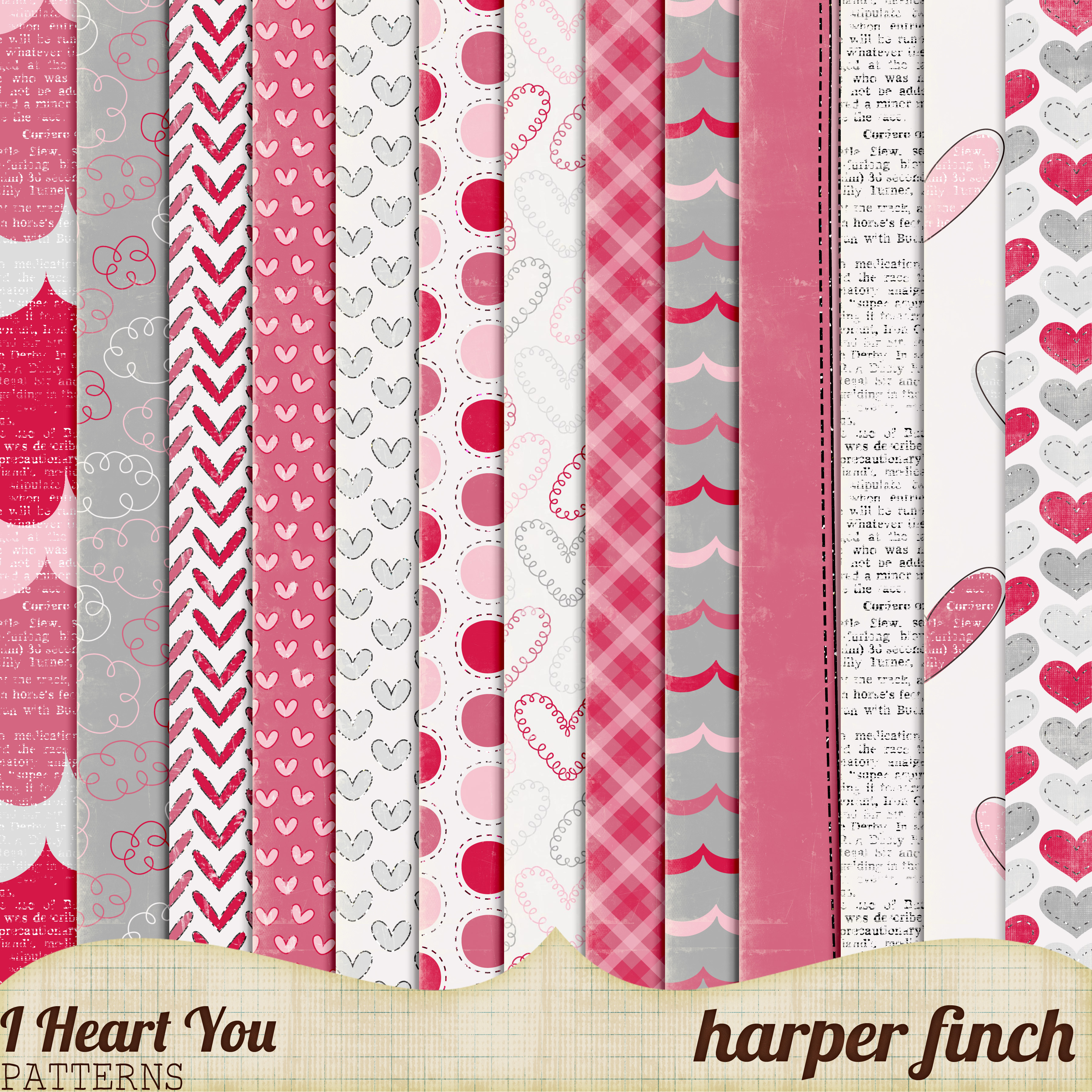 I Heart You, Patterns