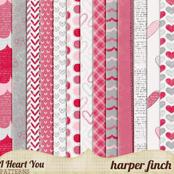 I Heart You, Patterns by harperfinch