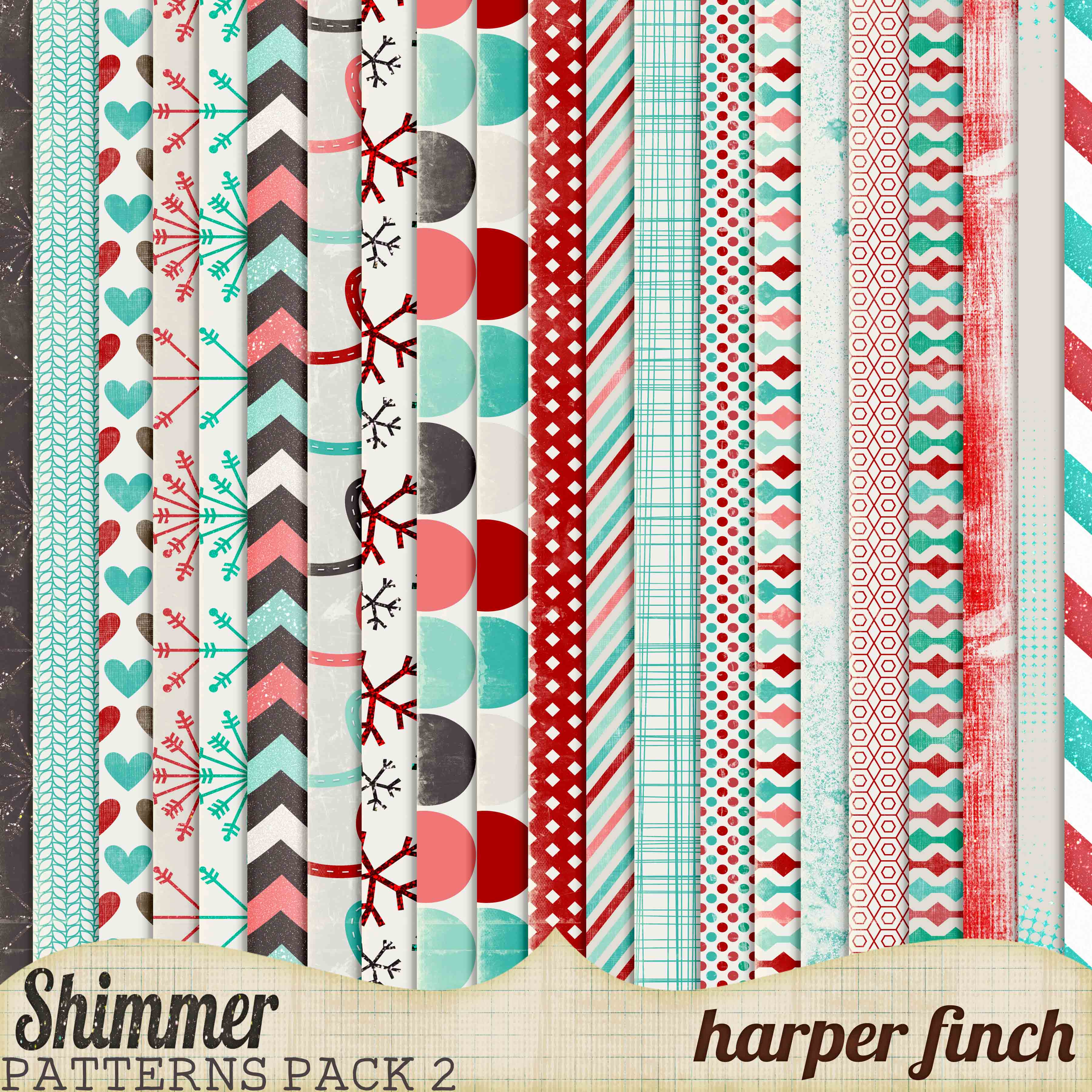 Shimmer, Pattern Paper Pack Two