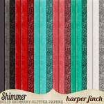 Shimmer, Solids, Glitters and Shimmery Papers