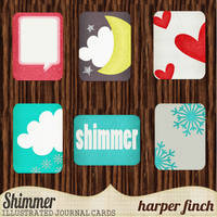 Shimmer Illustrated Journal Cards by Harper Finch by harperfinch