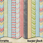 Everyday Chevron Papers by Harper Finch