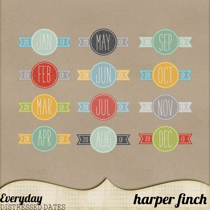 Everyday Distressed Dates by Harper Finch by harperfinch
