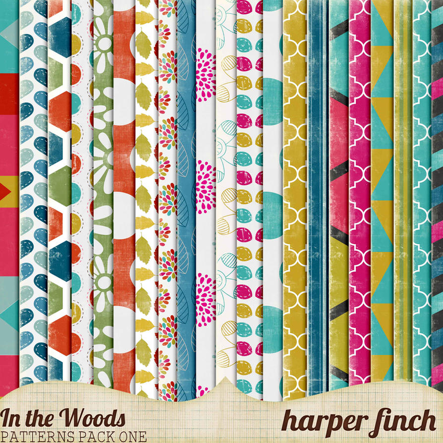 In the Woods Patterns Pack One by Harper Finch by harperfinch