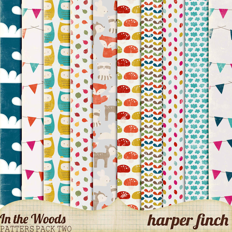In the Woods Patterns Pack Two by Harper Finch by harperfinch