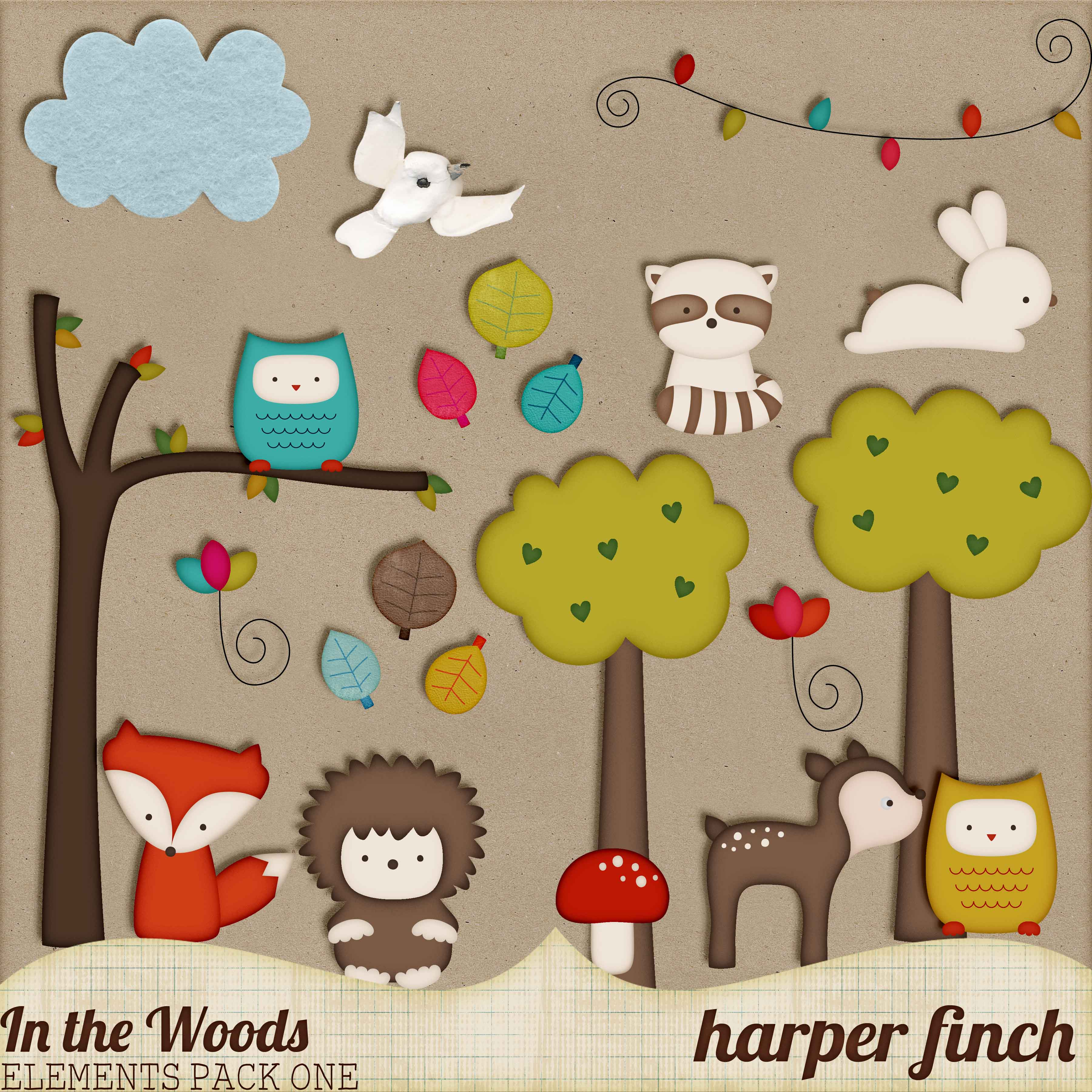 In the Woods Elements Pack One by Harper Finch by harperfinch