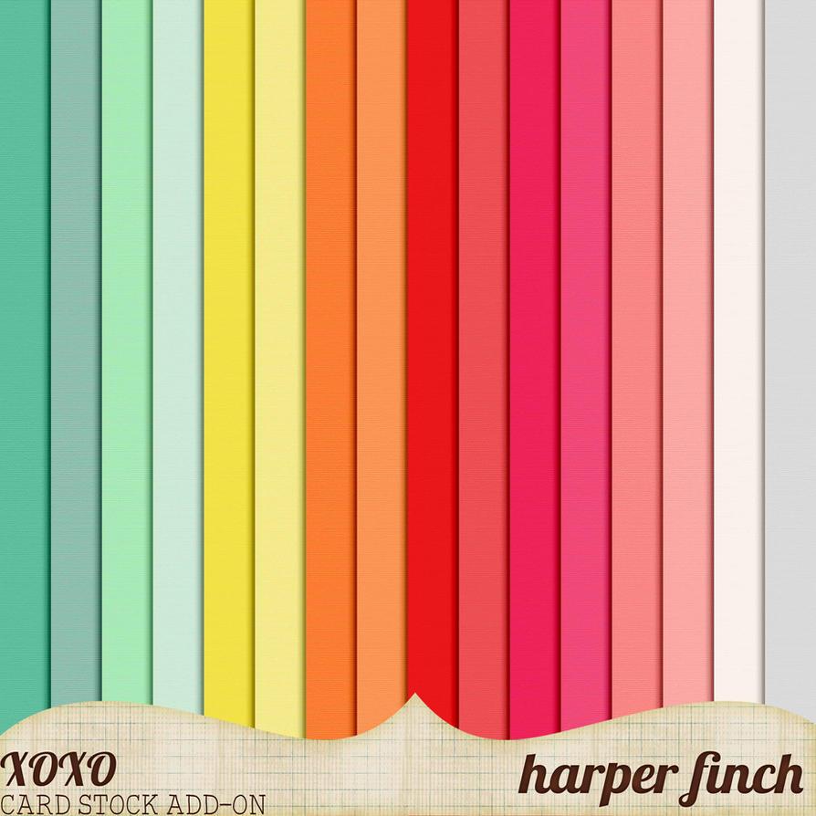 XOXO Card Stock Add-On by Harper Finch by harperfinch