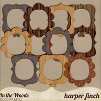 In the Woods Wood Frames by Harper Finch by harperfinch