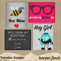 Valentine Sampler by Harper Finch by harperfinch