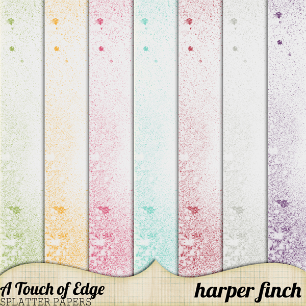 A Touch of Edge Splatter Papers by Harper Finch by harperfinch
