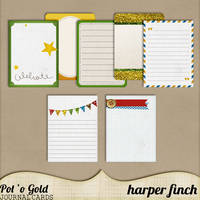 Pot O' Gold Journal Cards by harperfinch