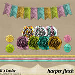 It's Easter Banner and Rosettes