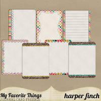 My Favorite Things Freebie by harperfinch