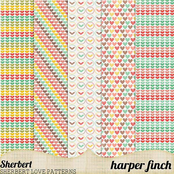 Sherbet Heart Patterns by harperfinch