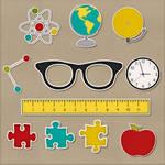School's Back Sticker Elements