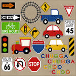 Plains, Trains and Automobiles Stickers