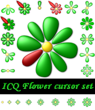 Icq Flower Cursor set by SireaSis