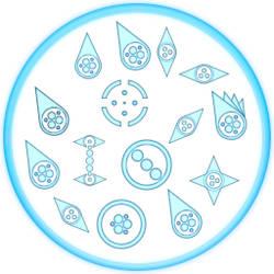 Blue circle cursor set