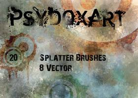SplatterBrushSet  - Vol 1 - by IG000R
