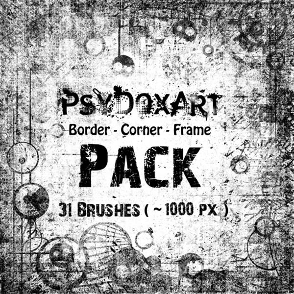 -Border-Corner-Frame-PACK by PsyDoxArt