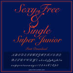 Super Junior [Sexy, Free and Single] FONT