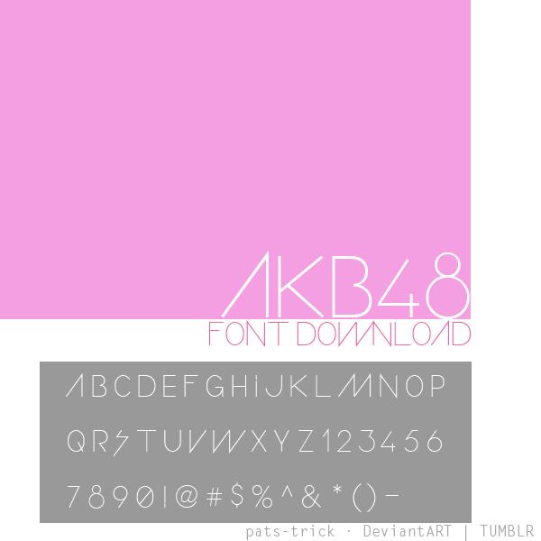 akb48 logo font