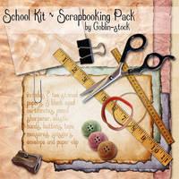 School Scrapbooking Kit by GoblinStock