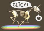 skeleton unicorn attack